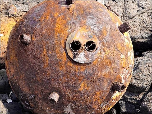 澎湖无人岛发现解放军水雷?台军事专家:应是二战美军空投水雷