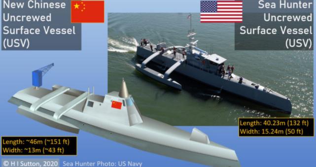 中国新无人战舰曝光,比以往型号大得多!外媒又老调重弹指责抄袭