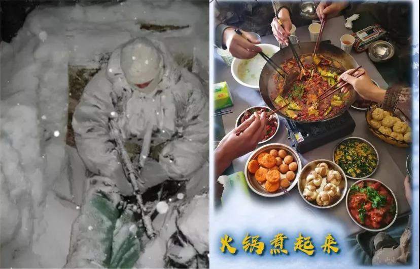 """印军冻成""""冰雕"""",解放军在吃火锅,中印边境这一幕怎么似曾相识?"""