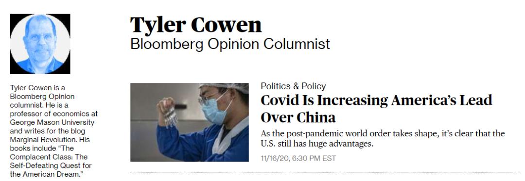 美国教授强文:新冠疫情证明美国不怕死人,比中国强大得多