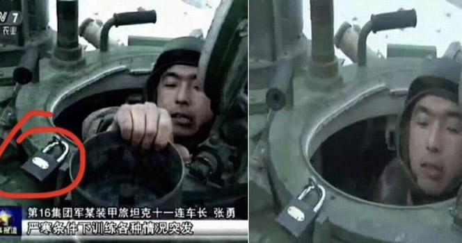 国产装备上总是挂着大锁头,所以你就觉得解放军老土落后?