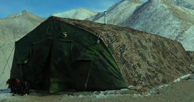 解放军新型帐篷:里面住着一个大家伙,准备随时给印度一个大惊喜