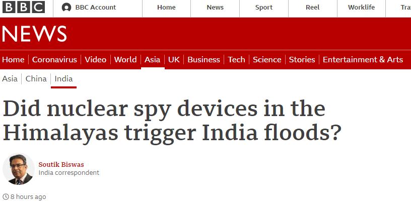 """惊爆!""""印度洪灾是喜马拉雅山上的核监控装置所致?"""""""
