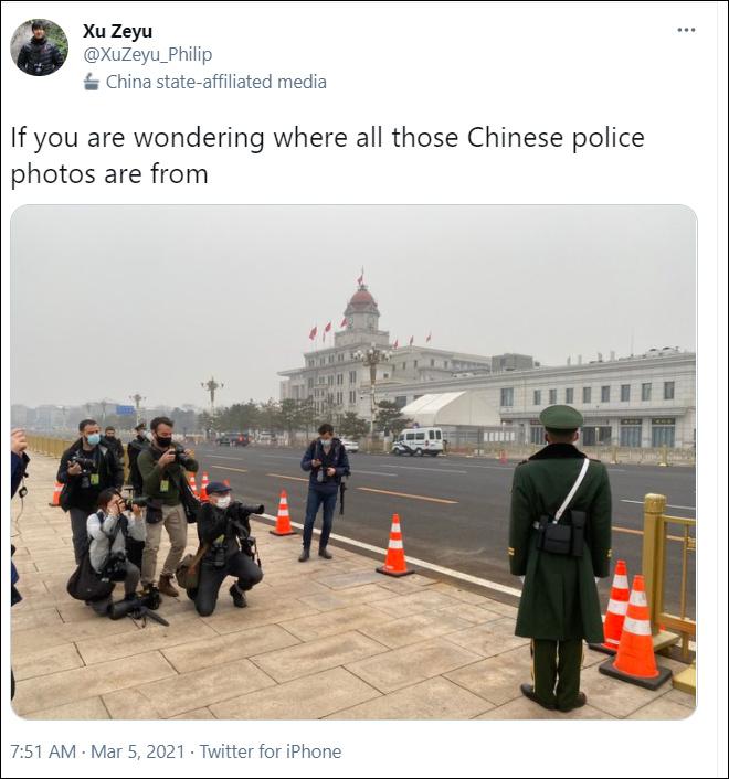 新华社记者:西媒一张499美元的中国警察照片 就是这么来的