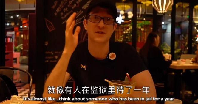 """美国小伙从美国到了上海 惊叹"""" 就像终于从监狱里出来了!"""""""