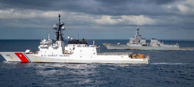 美海岸警卫队伺机联手陆战队在西太对抗中国